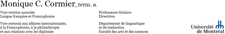 Monique C. Cormier, terminologue